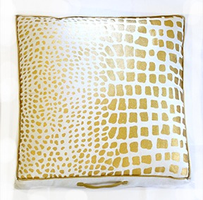 Spura Poaci Snake Floor Pillow Gold
