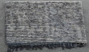 Spura Poaci Tye-Dye Fringe Throw Gray