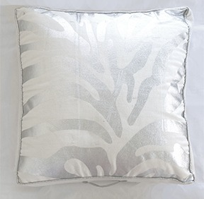 Spura Poaci Zebra Floor Pillow Silver