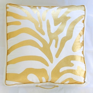 Spura Poaci Zebra Floor Pillow Gold