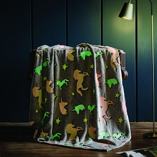 Spura Unicorn Glow in the Dark Throw