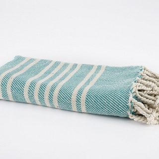 Spura Navajo Ghussi Throw Evergreen