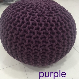 Spura Gumdrop Poufs Purple