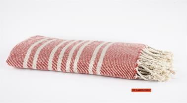 Spura Navajo Ghussi Throw Strawberry