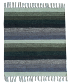 Spura Poaci Tye-Dye Linen Throw Sea Green