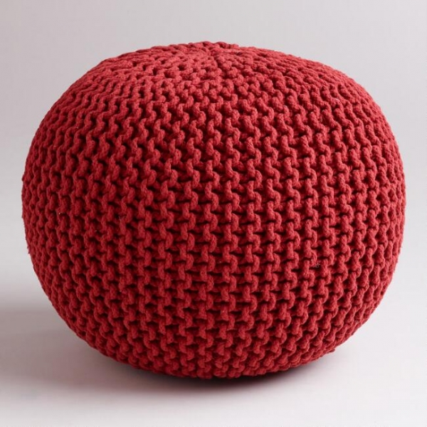 Spura Gumdrop Poufs Red