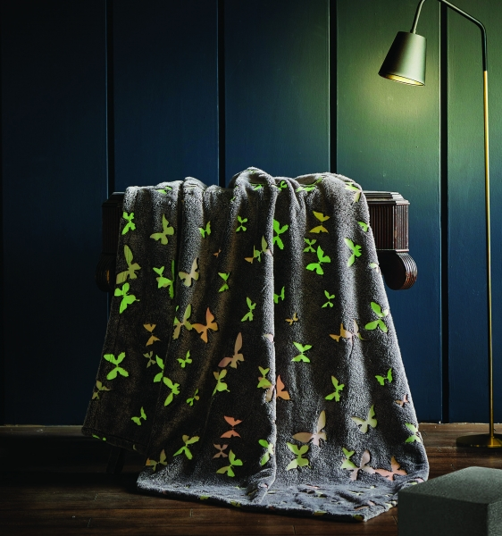 Spura Butterfly Glow in the Dark Throw